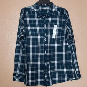 Croft & Barrow The Classic Shirt Flannel - Size XL